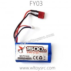 FEIYUE FY03 Eagle-3 Battery 7.4V 1500mAh FY-7415 Original Parts