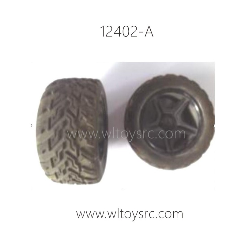 WLTOYS 12402-A Parts-Wheel with Tires