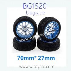 SUBOTECH BG1520 Upgrade Parts Aluminum Wheels and Flat Running Tires