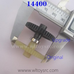 WLTOYS 144001 Upgrade Spur Gear VS the original Gear