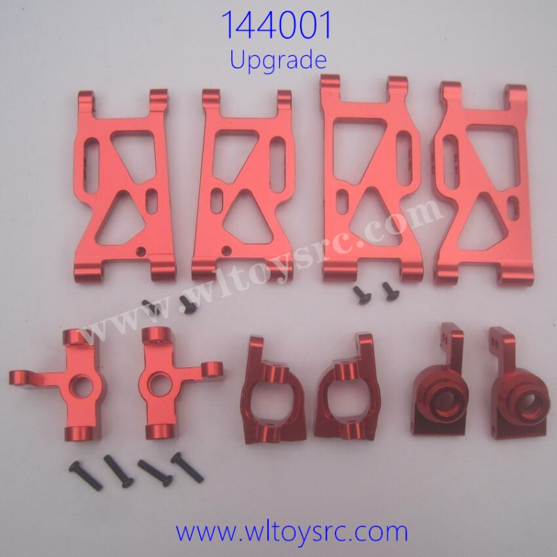 WLTOYS XK 144001 Upgrade Parts-Swing Arm Front and Rear Wheel Seat Red