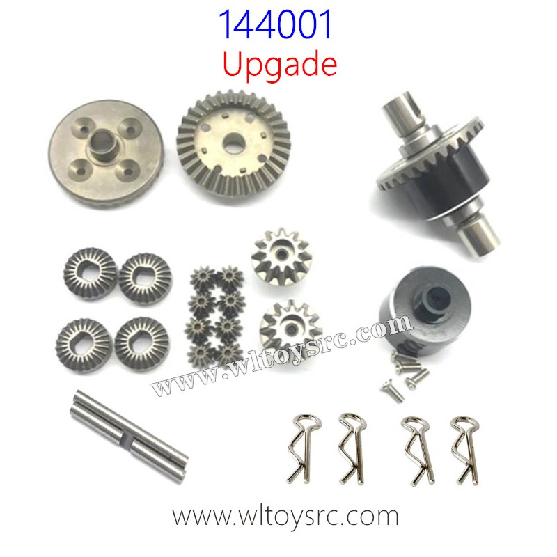 WLTOYS 144001 RC Buggy Upgrade Parts-Differential Gear and Metal Case