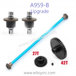 WLTOYS A959B Upgrade Parts, Differential Gear Assembly Big Gear and Transmission Shaft