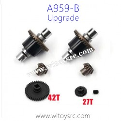 WLTOYS A959B RC Car Upgrade Metal Parts, Differential Gear Assembly and Reduction Gear