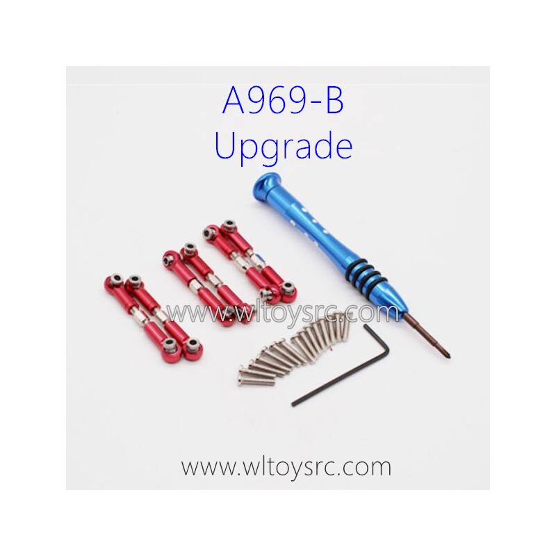 WLTOYS A969B Upgrade Parts, Connect Rods Red