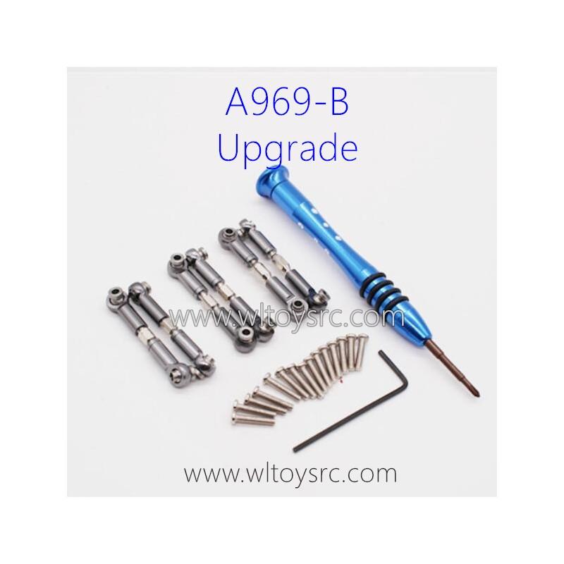 WLTOYS A969B Upgrade Parts, Connect Rods Titanium