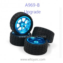 WLTOYS A969B Upgrade Parts, Wheel Aluminum Alloy with Tires