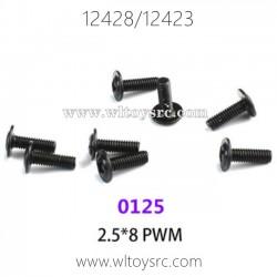 WLTOYS 12423 12428 1/12 Car Parts, 0125 2.5X8 PWM Screws