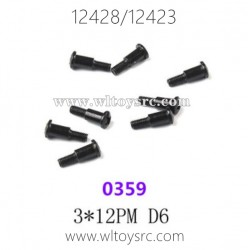 WLTOYS 12423 12428 1/12 Car Parts, 0359 3X12PM Screws