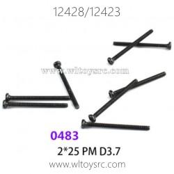 WLTOYS 12423 12428 1/12 Car Parts, 0483 2X25 PM Screws