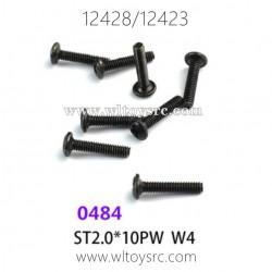 WLTOYS 12423 12428 1/12 Car Parts, 0484 ST2.0X10PW W4 Screws