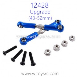 WLTOYS 12428 Upgrade Parts, Front Upper Arm Connect Rod 43-52mm