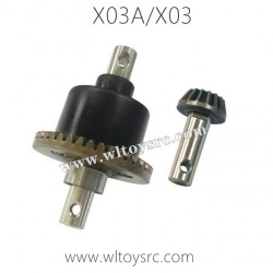 XLF X03A X03 RC Car Parts, Front Differential Mechanism Components