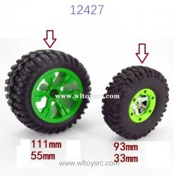 WLTOYS 12427 RC Car Upgrade Parts Big Wheels Increase Size
