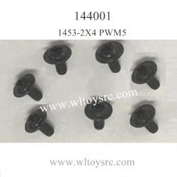 WLTOYS 144001 Parts 1453 2X4 PWM5 Cross Round Head Machine Screws
