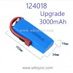 WLTOYS 124018 Upgrade Parts 7.4V 3000mAh Battery