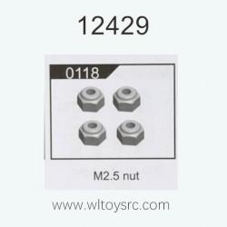 WLTOYS 12429 RC Car Parts, M2.5 Nut 0118