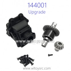 WLTOYS 144001 Upgrade Parts Differential Assembly with Gearbox Black