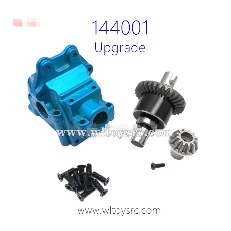 Metal Gearbox Housing Differential Gear Set for WLTOYS 144001 1//14 RC Car Accs