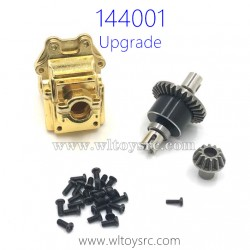 WLTOYS 144001 Upgrade Parts Differential Assembly with Gearbox Golden