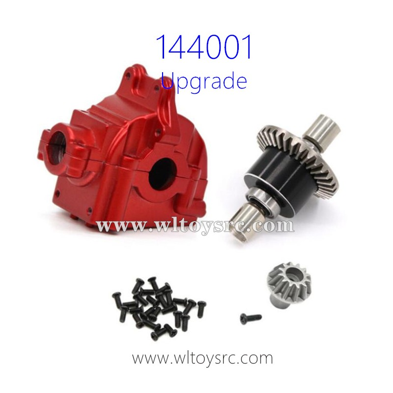 WLTOYS 144001 Upgrade Parts Differential Assembly with Gearbox Red