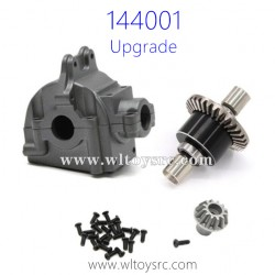 WLTOYS 144001 Upgrade Parts Differential Assembly with Gearbox Titanium