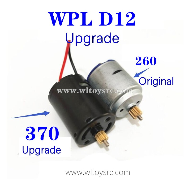 WPL D12 1/10 Upgrades Parts, 370 Motor More Power