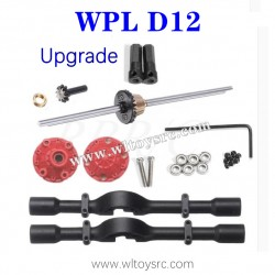 WPL D12 Upgrades Parts, Rear Axle Assembly with Differential