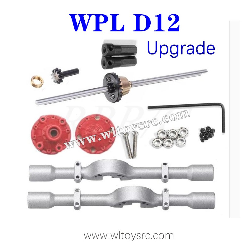 WPL D12 Upgrades Rear Axle Assembly with Differential