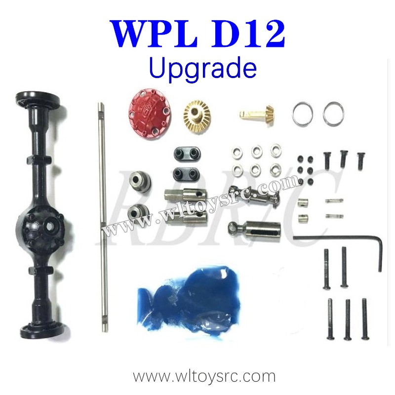 WPL D12 Upgrades Metal Parts, Rear Axle Shell and Drive Shaft