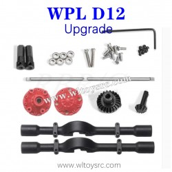 WPL D12 1/10 RC Truck Upgrades Parts, Rear Axle Shell and Metal Gear