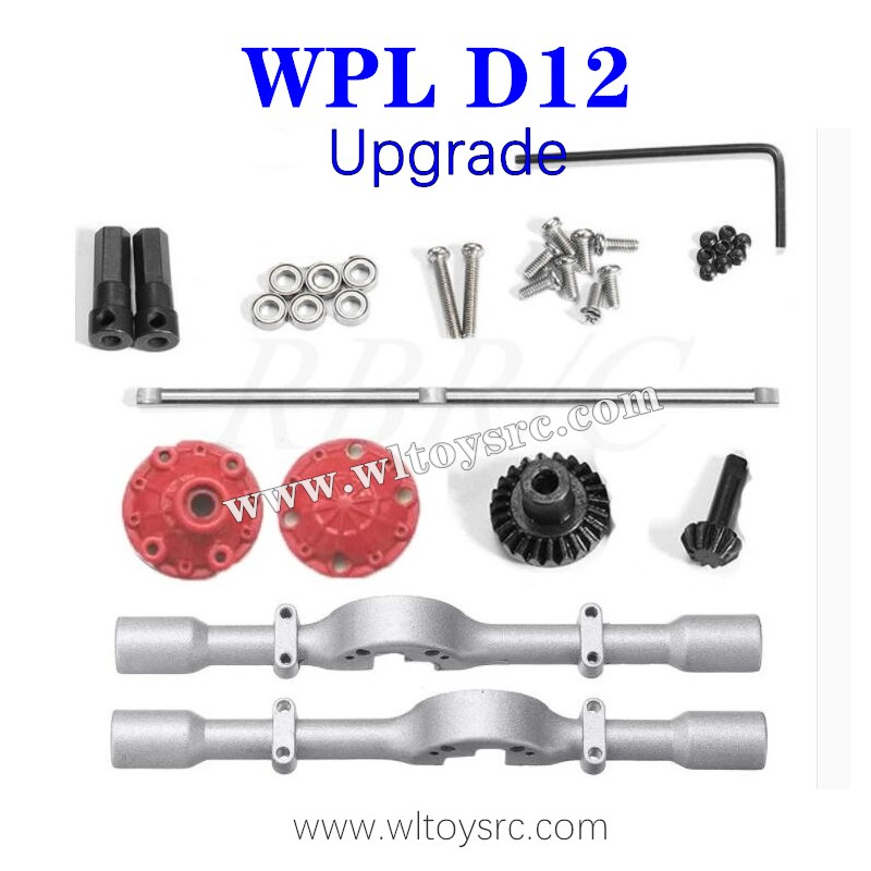 WPL D12 1/10 RC Truck Upgrades Parts, Rear Axle Shell