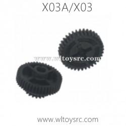 XLF X03A X03 RC Car Parts, Drive Gear C12024-C12025