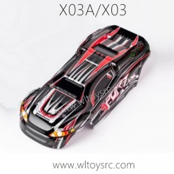 XLF X03A X03 RC Car Parts, Car Shell