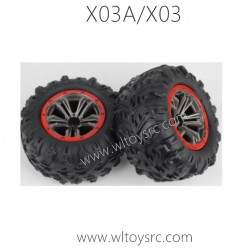 XLF X03A X03 RC Car Wheels