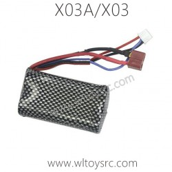 XLF X03A X03 RC Car 7.4V 1500mah Battery