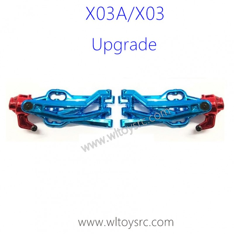 XLF X03A X03 RC Car Upgrade Metal Front Swing Arm Kit