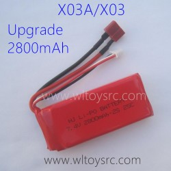 XLF X03A X03 RC Car Upgrade Battery 7.4V 2800mAh
