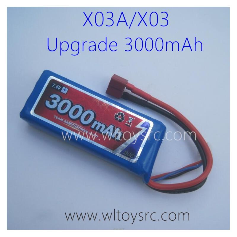 XLF X03 RC Car Upgrade Lipo Battery 7.4V 3000mAh