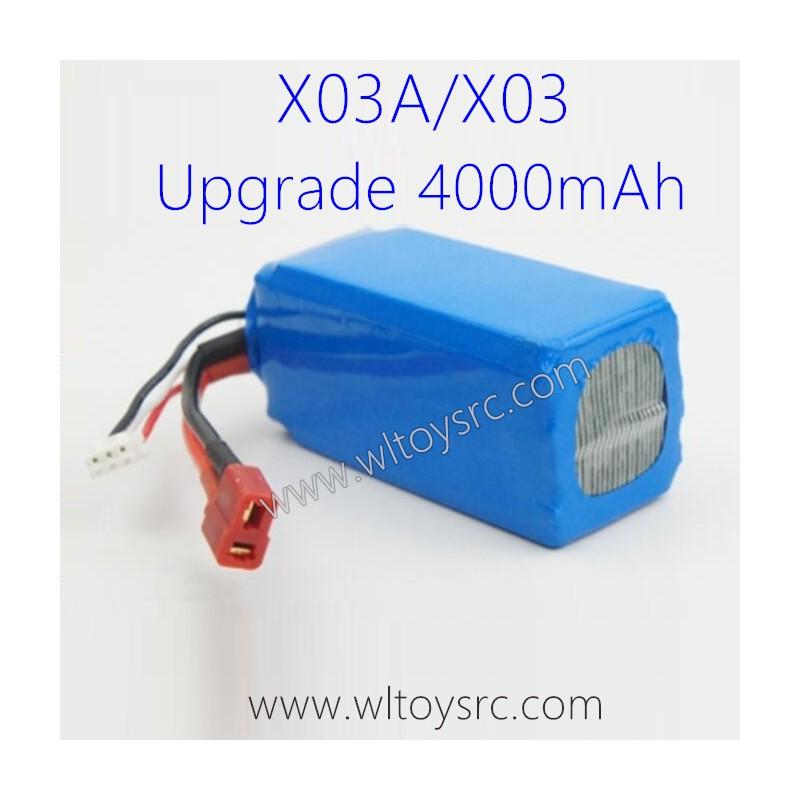 XLF X03 RC Car Upgrade Large Capacity Battery 4000mAh
