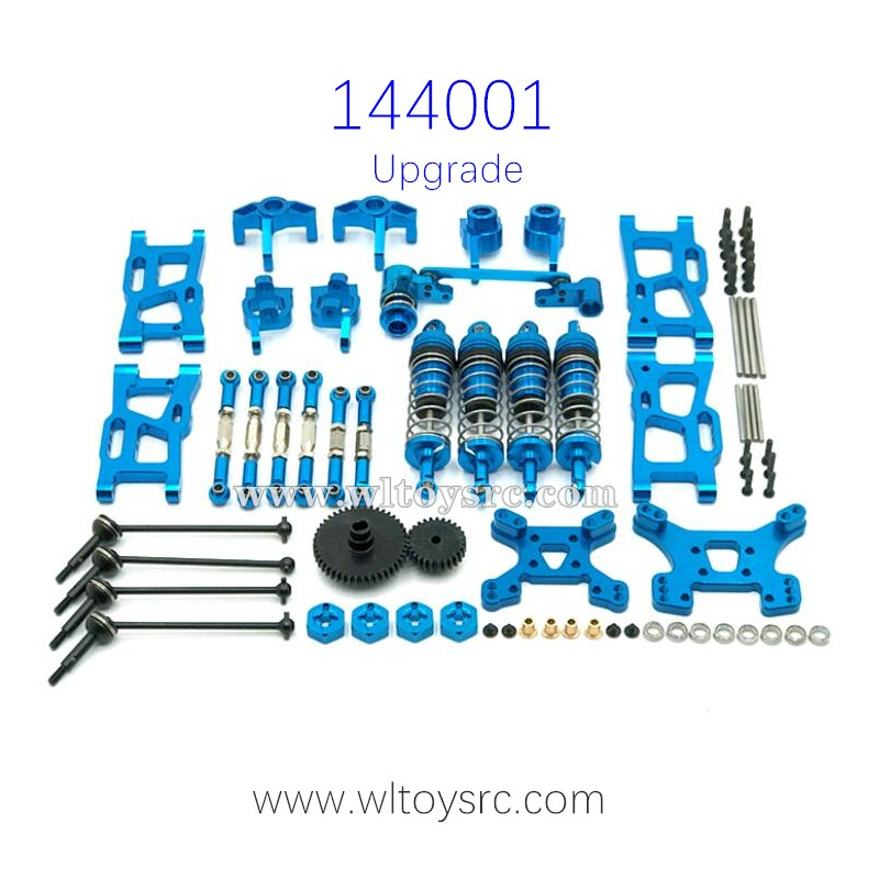 WLTOYS 144001 Metal Upgrade Parts Big Gear Bone Dog Shaft Set Blue