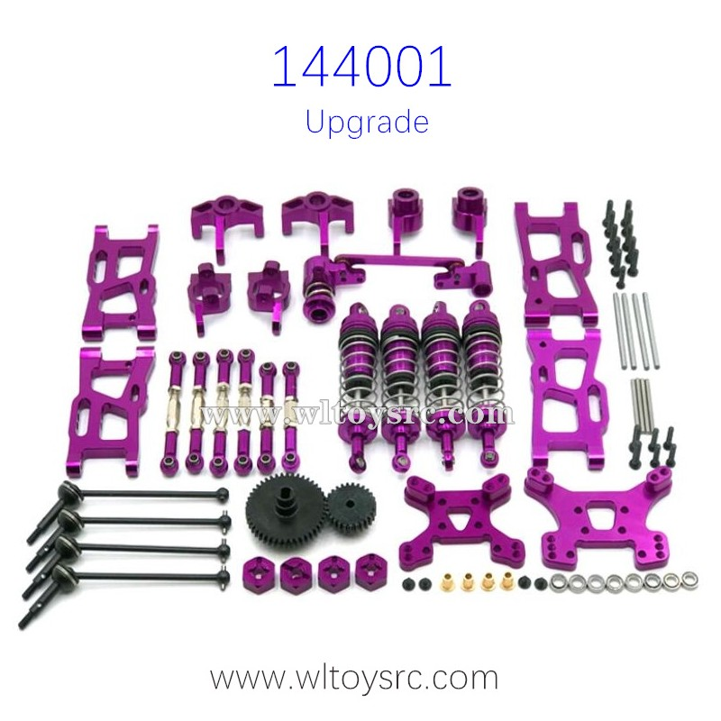 WLTOYS 144001 Metal Upgrade Parts Big Gear and Shocks