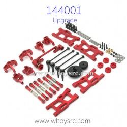 WLTOYS 144001 Metal Upgrade Red
