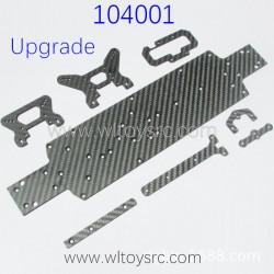 WLTOYS 104001 Upgrade Parts Carbon Fiber Bottom kit