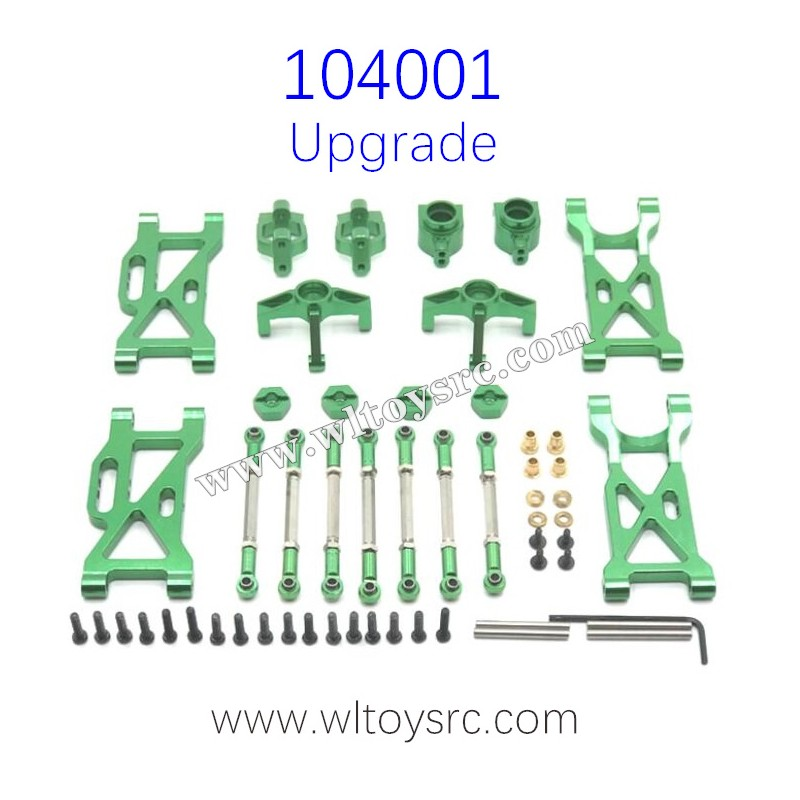 WLTOYS 104001 RC Car Upgrade Parts Metal Swing Arm and Connect Rod kit