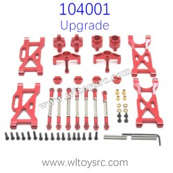 WLTOYS 104001 Upgrade Parts Metal Swing Arm and Connect Rod kit Red