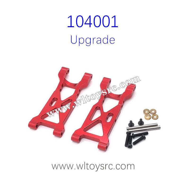 WLTOYS 104001 Upgrades Rear Swing Arm Metal Parts Red