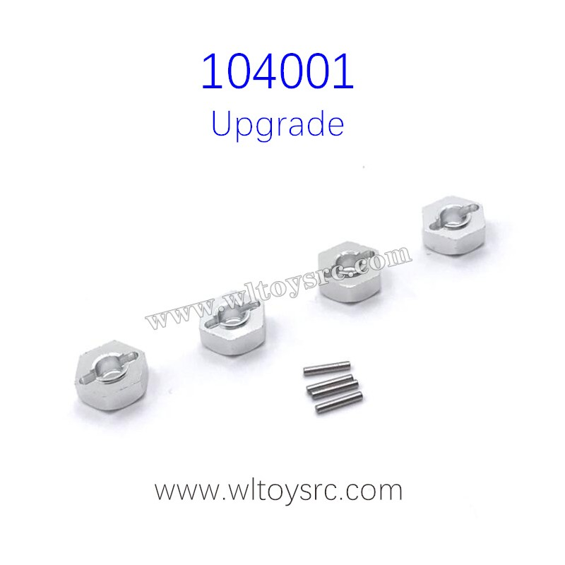 WLTOYS 104001 Upgrade Parts Hex Nut with Pins Grey