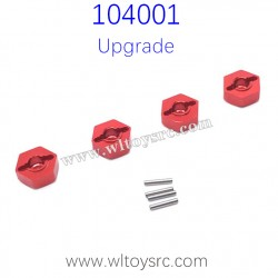 WLTOYS 104001 Upgrade Parts Hex Nut with Pins Red