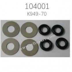 K949-70 Stainless Steel Gasket Parts For WLTOYS 104001 1/10 RC Car
